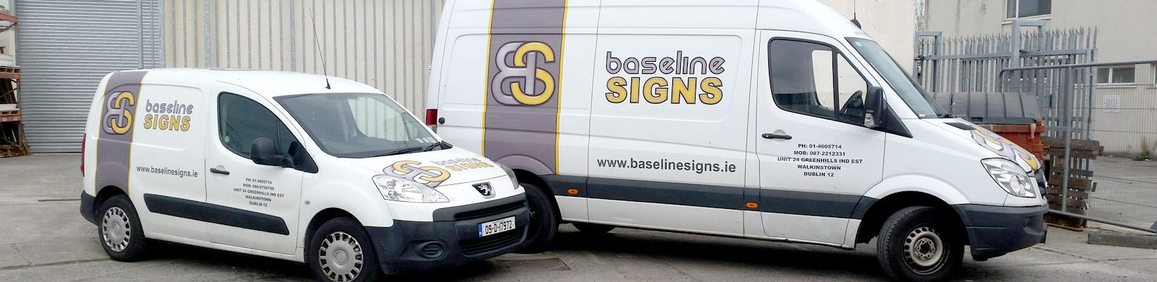 Baseline Signs Vans