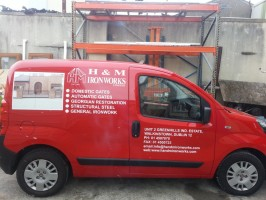 Van with digital prints